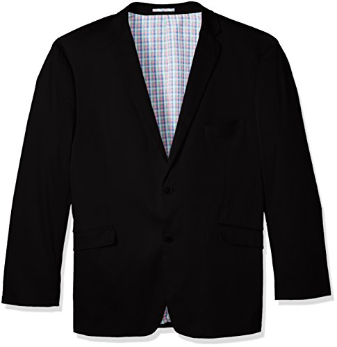 U.S. Polo Assn. Men's Big and Tall Stretch Cotton Sport Coat, Black Lycra, 52 Long Big Tall Blazer