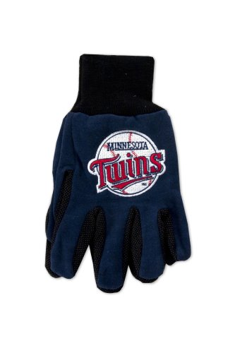 MLB Minnesota Twins Two-Tone Gloves, Blue/Black ()