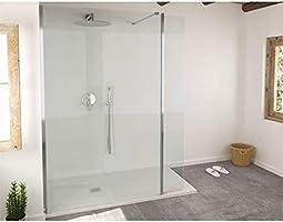 Mampara de ducha fija Single cristal 8 mm 80 x 200: Amazon.es: Bricolaje y herramientas
