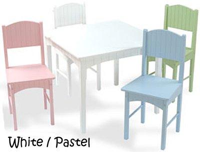 KidKraft Nantucket Table & 4 Pastel Chair Set
