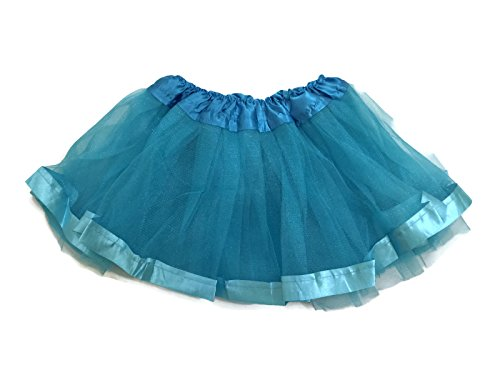 Rush Dance Ballerina Girls Dress-Up Princess Recital Fairy Bow & Ribbon Tutu (Kids (2-6 Years Old), Turquoise Ribbon)