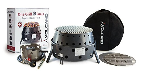 Volcano Grills 3-Fuel Portable Camping Stove Fire Pit