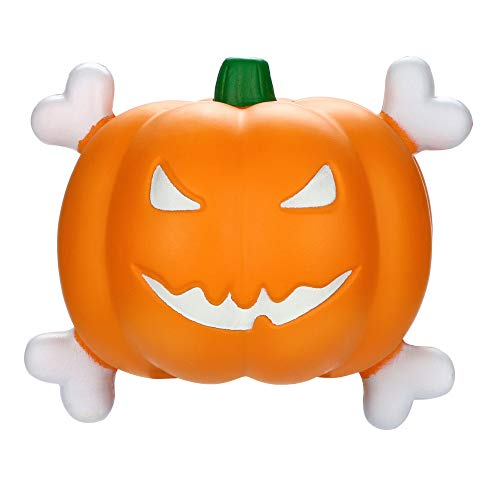 Halloween Squeeze Kawaii Pumpkin Luminous Educational Toy - Pausseo Hang Scented Slow Rising Squeezable Dolls - Ideal for Stress Reliever & Anxiety Relief,Special Needs,Autism,Disorders & More -