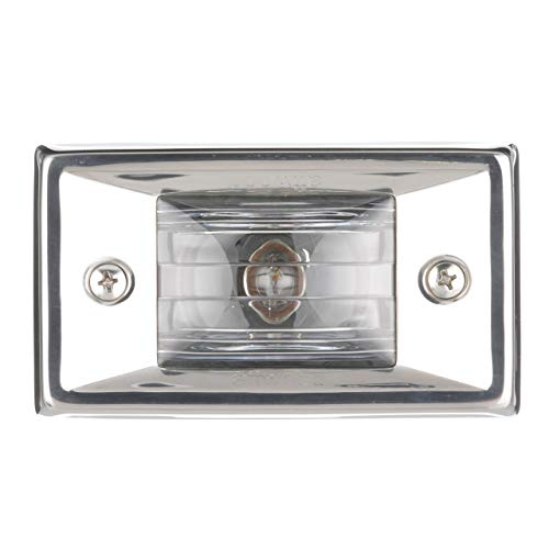 Attwood Corporation 66382-7 12V Rectangular Transom Light Flush Mount