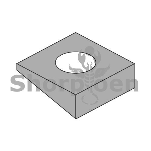 Square Beveled Washer F 436 A 325 A 490 Plain 7/8 BC-87WBF436-1 (Box of 250) Weight 50.98 Lbs by Shorpioen LLC (Image #1)