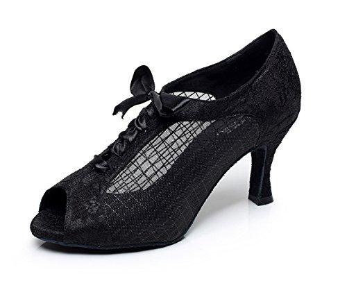 Baile Impreso Encaje Zapatos Malla Mujeres De De De JSHOE De Las Am De wXUqROxg