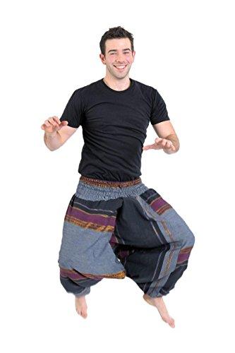 - Pantalón Sarouel nepalais brillante Aladin indio - Sari noir