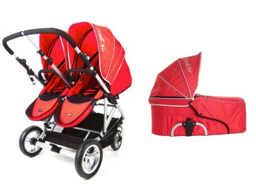Stroll-Air 2017 My Duo Stroller WITH 1 Bassinet (Red)