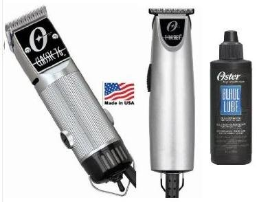 Ounce Clipper 4 (Combo Limited Edition Oster 76 and T Finisher Silver and a 4 oz lubricating oil Clipper and Trimmer.)