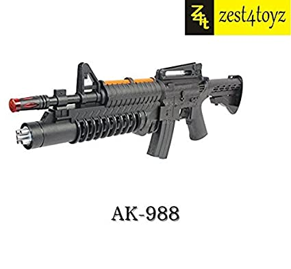 Zest 4 Toyz Grenade Launcher Style Electronic Toy Army Machine Gun  (Multicolour)