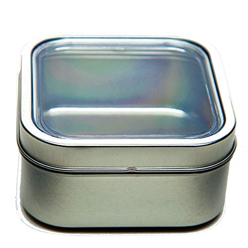 16 oz Bravada Magnetic Square Spice and Food Storage Tin - Set of 4