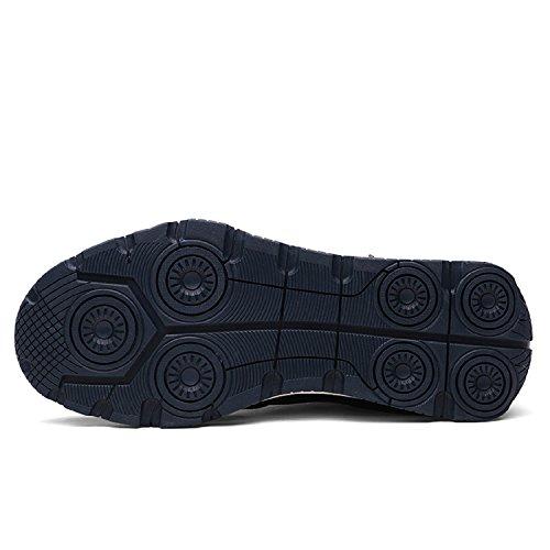 TQGOLD neve Stivali Impermeabile Blu con da Scarpe pelliccia Caldo Scuro Caviglia Uomo Invernali Scarponcino rUAxnrq6