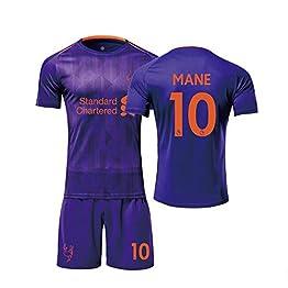 YSYSW Liverpool F.C.-Sadio Mane 10 -Football Uniforme T-Shirt Ensembles de Sport Survêtement de Football Garçon,Uniforme De Football