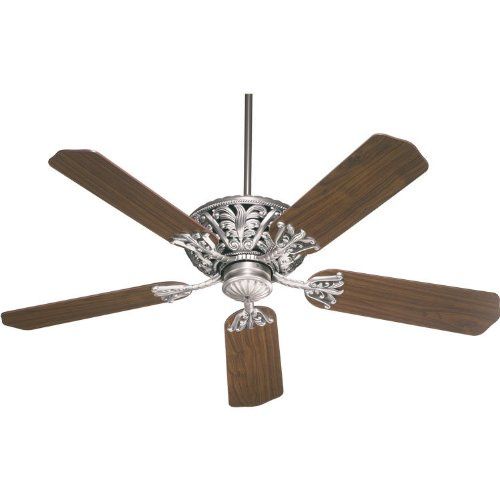 Quorum 85525-92, Windsor Antique Silver Energy Star 52'' Ceiling Fan by Quorum