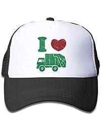 Boys' I Love Trash Garbage Trucks Hat Trucker Mesh Cap Birthday Gift