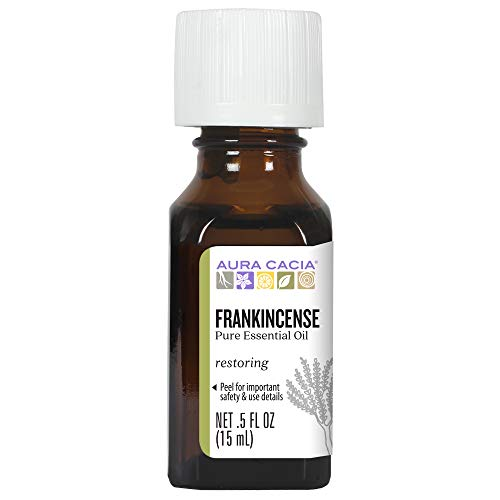 Aura Cacia - Pure Frankincense Essential Oil | 0.5 fl. oz. - Perfume Natural Aura Cacia