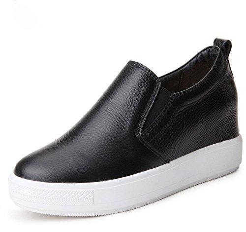 zapatos elevador US6 zapatos de los CN36 los Spring gruesa ocasionales la Sra Ms de EU36 zapatos del UK4 zapatos perezosos corteza pEXEcqg