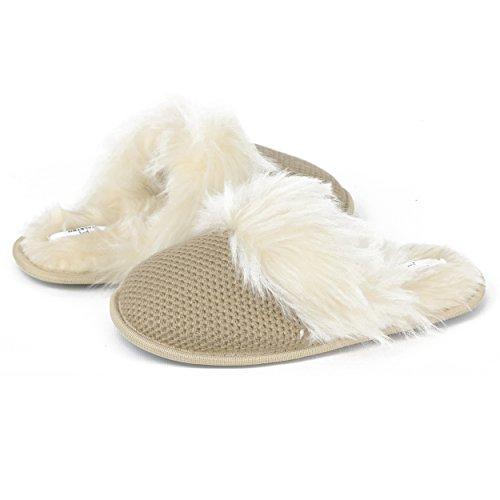 Sandalo Beige Con Elastico In Memory Foam Halston Da Donna