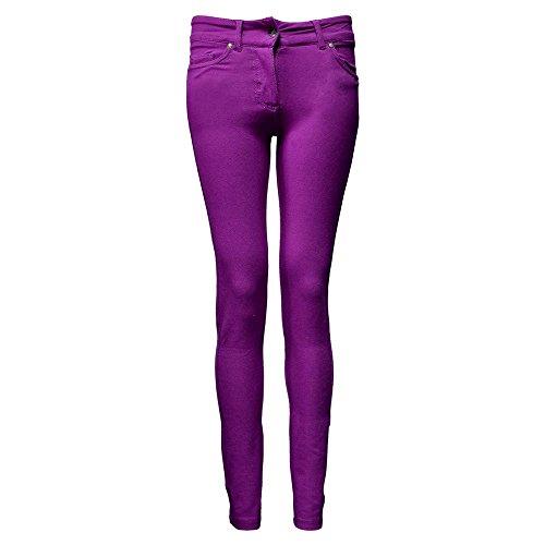 Womens FIT Leggings JEGGINGS SKINNY Denim Look Purple 88WFrfA