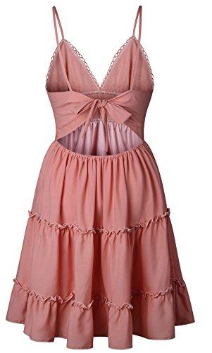9152ee11a7dfa2 ... Festlich Ärmellos Sommer Kleid Elegant Strand V-ausschnitt Bekleidung  Schulterfrei Strandkleider Spitze Sommerkleider Mit Rückenfrei