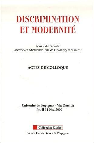 Livres gratuits en ligne Discrimination et modernité epub pdf