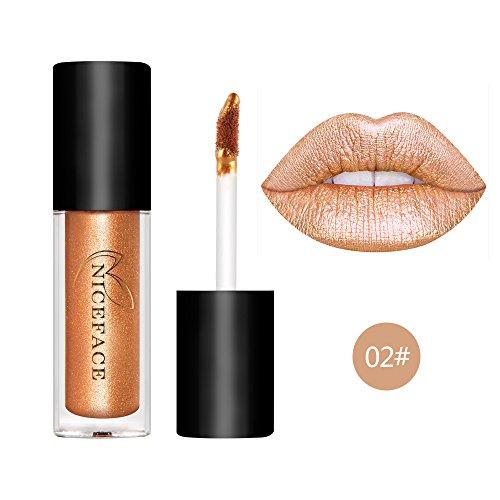 Coosa 6PCS Non-stick Cup Metal Lipstick Waterproof Sparkling Lip Gloss Vivid Color Matte Lip Liquid Long Lasting Makeup 6 Colors Set (6pcs)