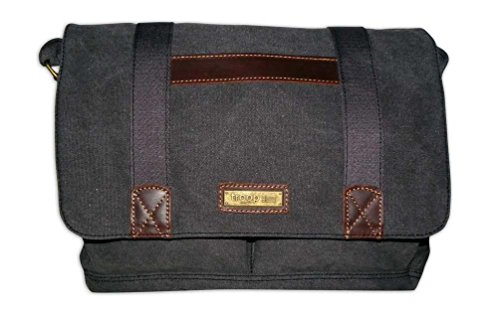 troop-london-unisex-canvas-laptop-messenger-bag-trp0281-black