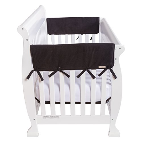 Trend Lab Waterproof CribWrap Rail Cover – For Wide Side Crib Rails Made to Fit Rails up to 18″ Around, 2PK