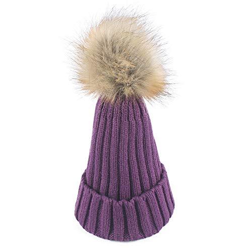 WGFGQX Sombrero De Punto Caliente De Las Señoras Al Aire Libre, Sombrero del Pompom,#1 #15