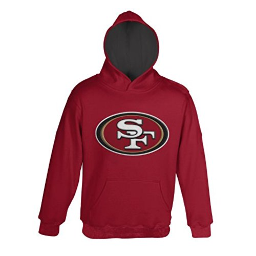 NFL San Francisco 49ers Pullover Hoodie, X-Large, Crimson