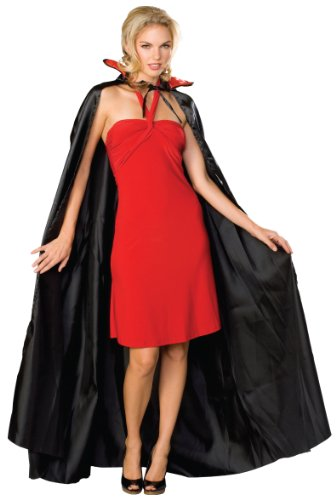 Rubie's Costume Satin Cape Adult Costume, Black, One Size (2)