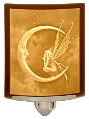 (Fairy Moon Porcelain Lithophane Night Light - David Delamare Design)