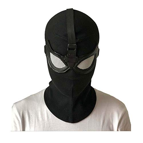 Spider Man Far from Home Mask Cosplay Superhero Spiderman Stealth Suit Masks Helmet Peter Parker Halloween Costume Props New Black -