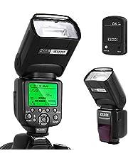 ESDDI Flash Speedlite for Canon, 1/8000 HSS sans Fil Flash Speedlite GN58 2.4G Radio Maître Esclave pour Canon, Kit Flash Professionnel avec Déclencheur Flash sans Fil