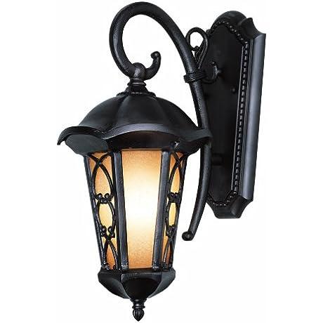 Trans Globe Lighting 5942 BRZ 25 3 4 Inch 2 Light Outdoor Large Wall Lantern Black Bronze