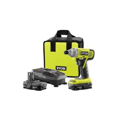 Ryobi ZRP881 ONE Plus 18V Cordless Lithium-Ion Impact Driver Kit (Certified Refurbished)