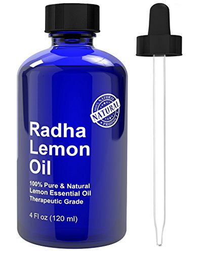 Radha Beauty Lemon Essential Oil 4 Oz - 5x Extra Strength 100%...