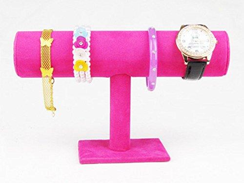 SMO Schmuckständer kleiderständer für Uhren Armband Samt Armbandständer (Rot)