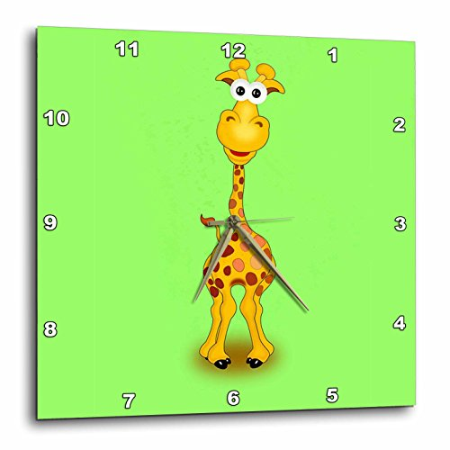 3dRose dpp_211697_1 Giraffe with Green Background Wall Cl...
