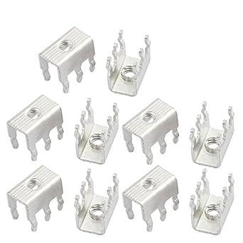 DealMux 10 piezas M4 6 Pin PCB soldadura Snap en terminales de tornillo del bloque de terminales Solamente: Amazon.es: Industria, empresas y ciencia