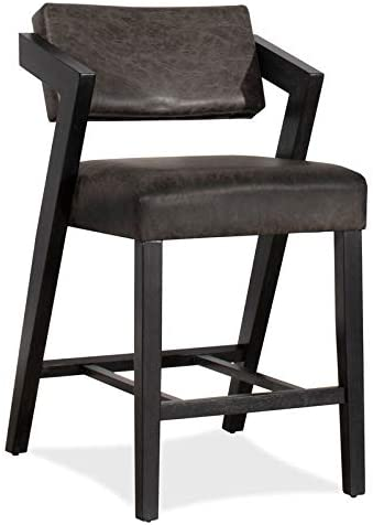 Hillsdale Snyder Stationary Counter Stool in Blackwash