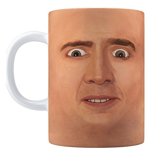 Creepy Cage Face Coffee Mug (15oz) (Scary Halloween Coffee Mugs)