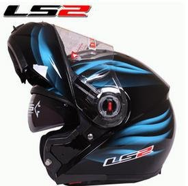 LS2 Ff370 MotorCycles Helmet Casco De Moto Cafe Racer Flip Up Full Face Dual Lens