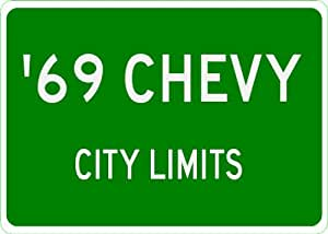 1969 69 CHEVY CAPRICE City Limit Sign - 10 x 14 Inches