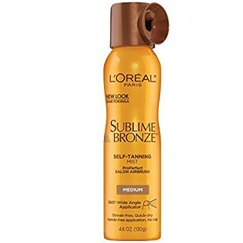 L'oreal Paris Sublime Bronze Properfect Salon Airbrush Self-tanning Mist, Medium Natural Tan, 4.6 Ounce (Pack of (Salon Airbrush)
