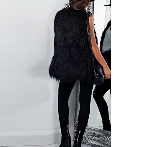 Mujer Cálido Chaleco Negro Mujer Largo de Chaleco KaloryWee Invierno de de Negro para 4YxPqTfw