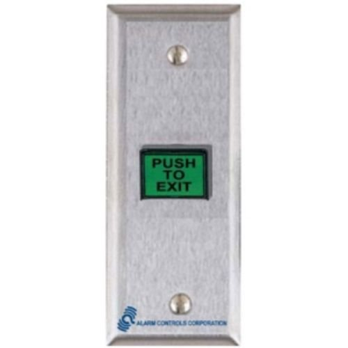 Exit Button, Narrow, Stainless Steel