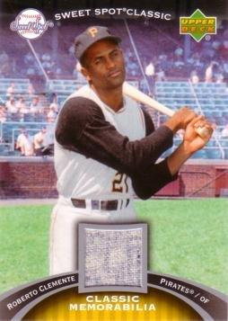 Jerseys Roberto Clemente - 2007 Upper Deck Sweet Spot Classic #CM-CL Roberto Clemente Game Worn Jersey Baseball Card