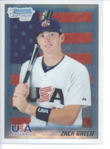 2010 Bowman CHROME Draft Picks and Prospects Baseball Card # BDPP99 Zach Green - USA National Team (Prospect - RC - Extended Rookie Card)