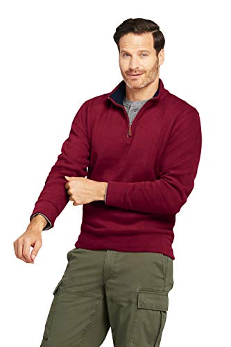 (Lands' End Men's Bedford Rib Quarter Zip Sweater)